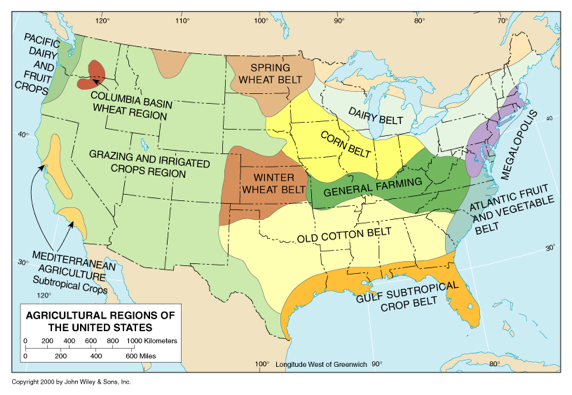 FWorld Regional Geography Mr Zoeller - Agricultural areas us map