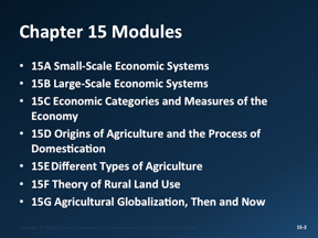 5-Malinowski, Ch15: The Geography of Economic Activity and